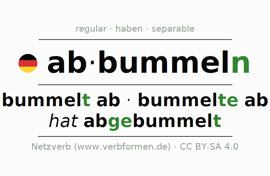 Conjugation of German verb abbummeln