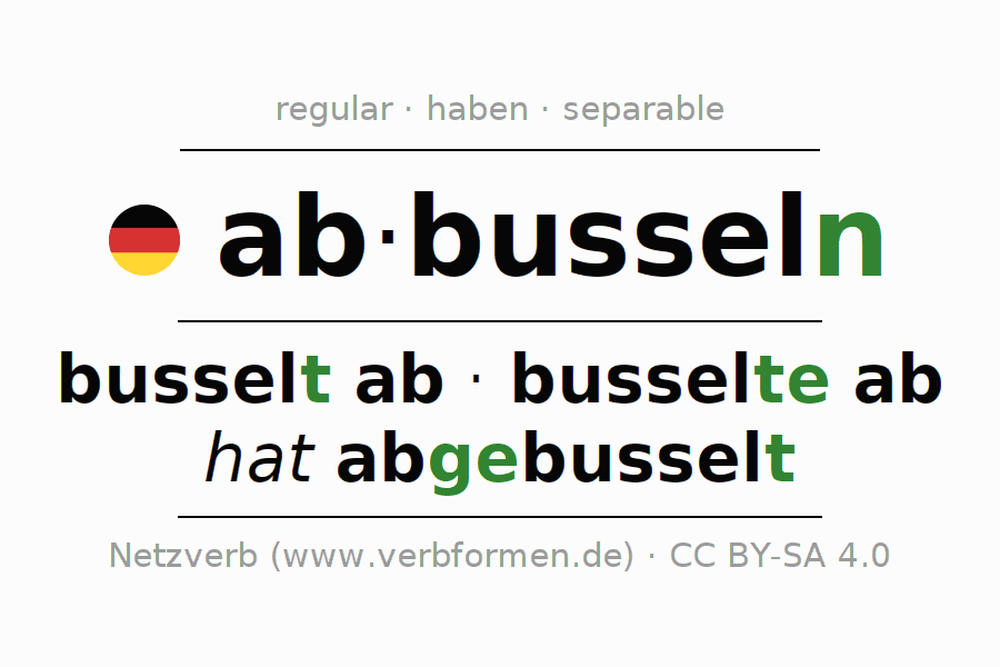 Conjugation of German verb abbusseln