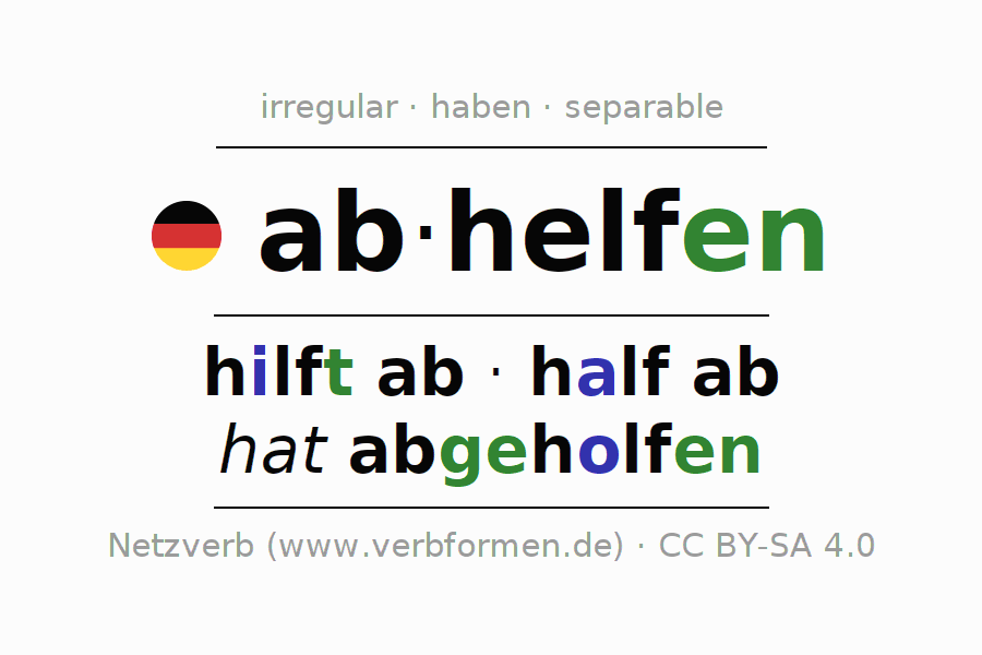 Conjugation of German verb abhelfen