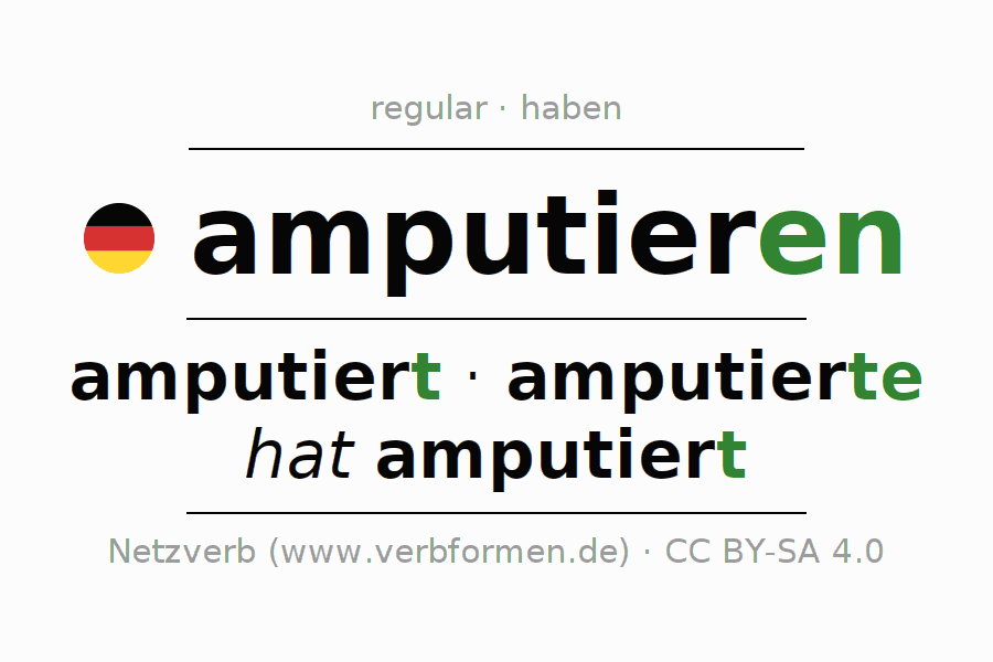 Conjugation of German verb amputieren