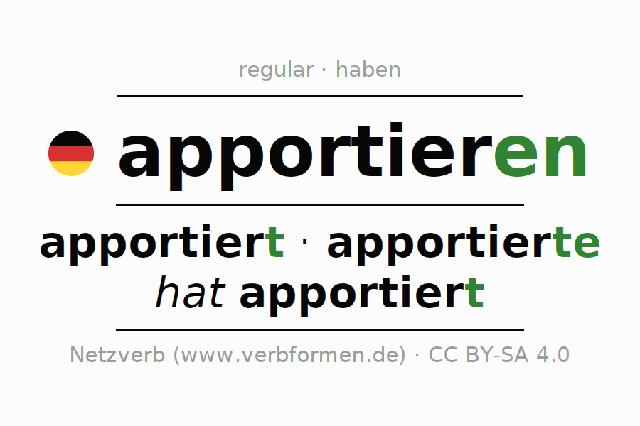 Conjugation of verb apportieren