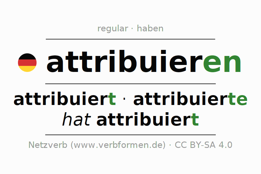 Conjugation of German verb attribuieren