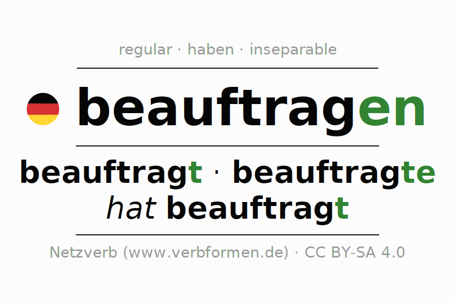 Conjugation of German verb beauftragen