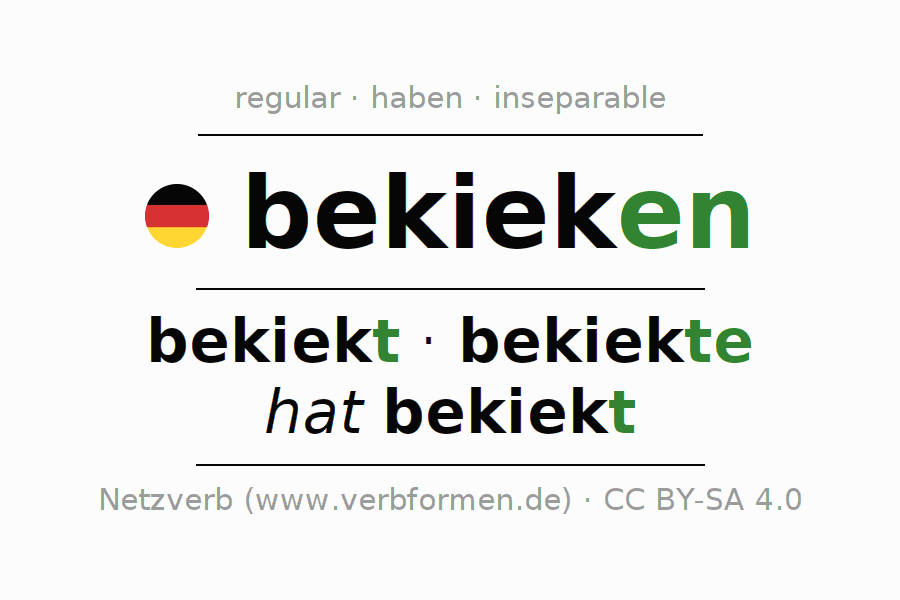 Conjugation of verb bekieken