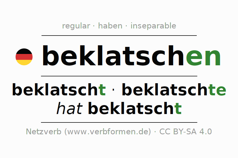 Conjugation of German verb beklatschen