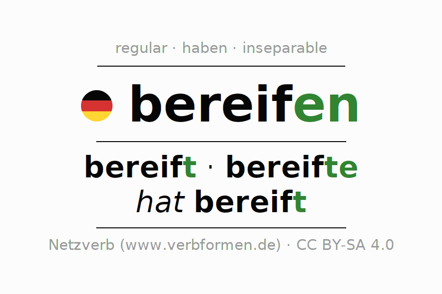 Conjugation of German verb bereifen