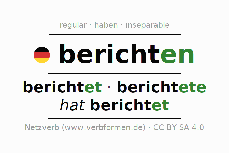 Conjugation of German verb berichten