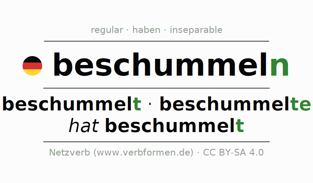 Conjugation of German verb beschummeln