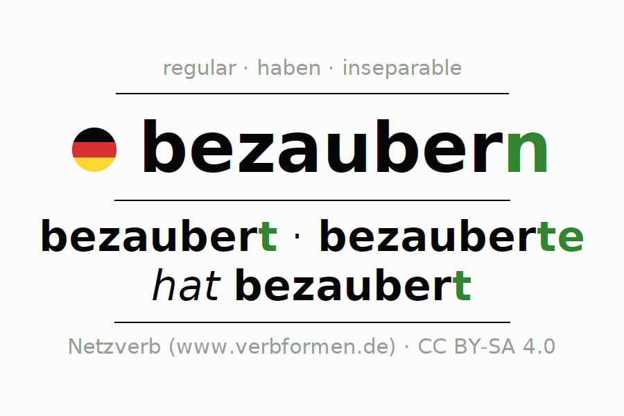 Conjugation of German verb bezaubern
