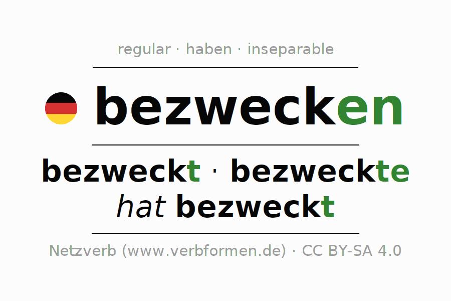 Conjugation of verb bezwecken