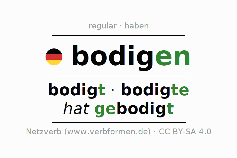Conjugation of verb bodigen