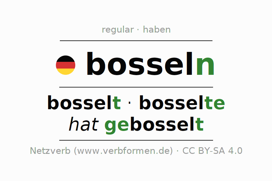 Conjugation of German verb bosseln