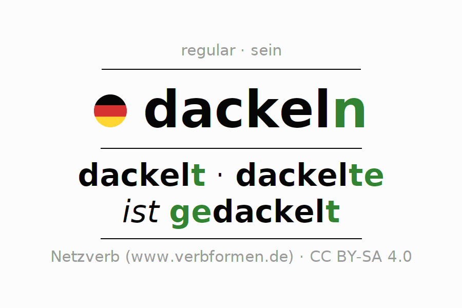 Conjugation of verb dackeln