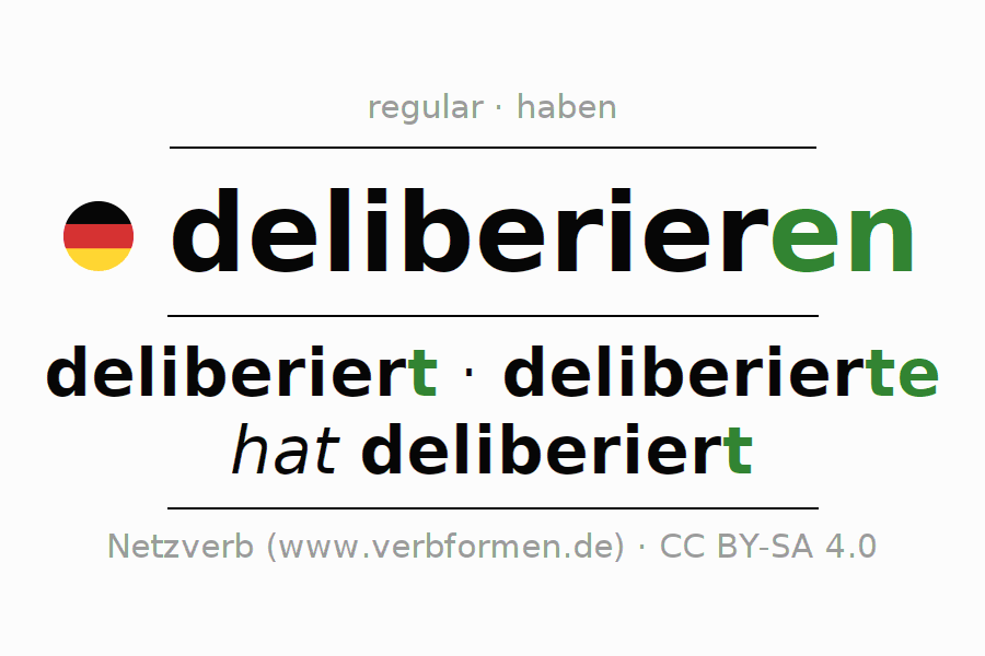Conjugation of German verb deliberieren