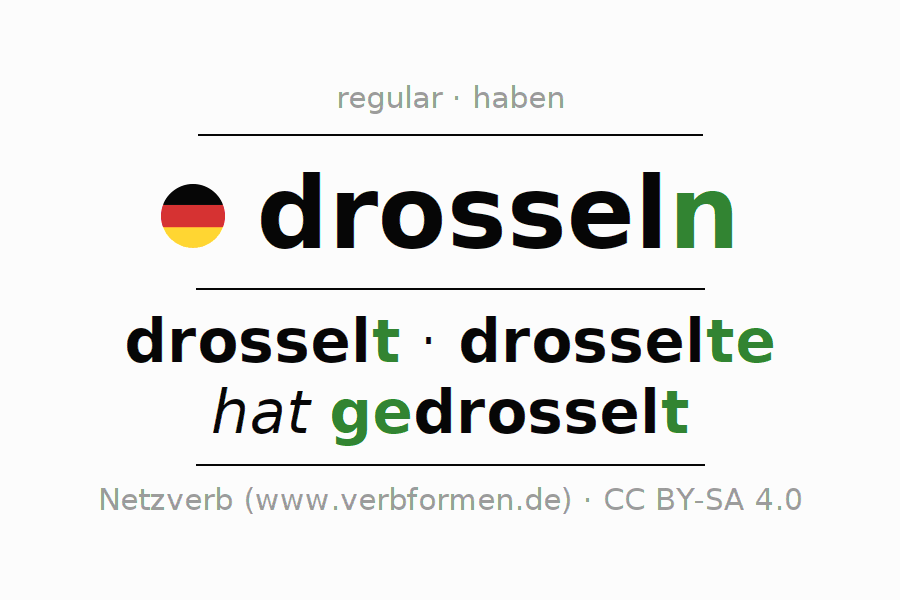 Conjugation of German verb drosseln