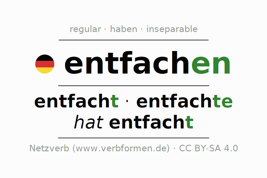 Conjugation of German verb entfachen