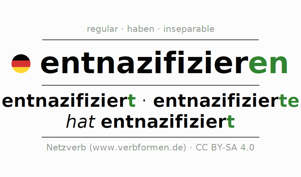 Conjugation of German verb entnazifizieren