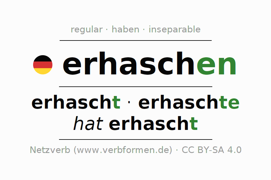 Conjugation of German verb erhaschen