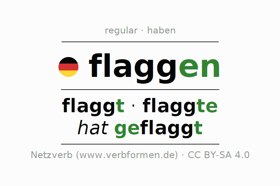 Conjugation of German verb flaggen