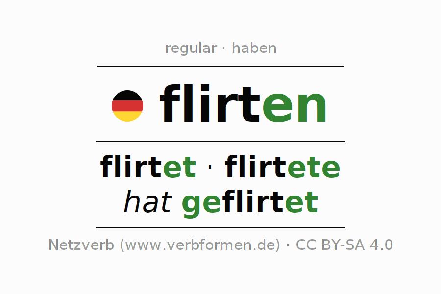 verb conjugation flirten
