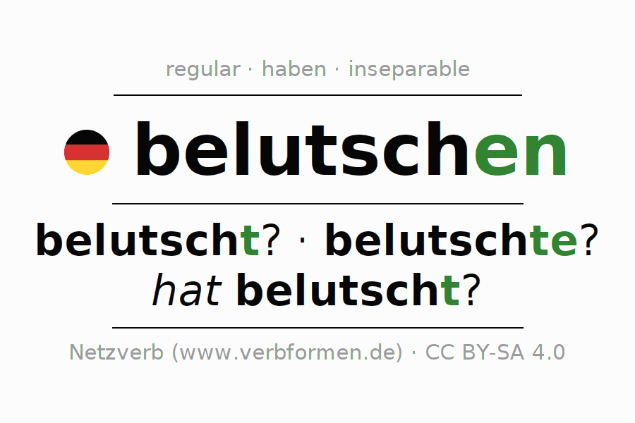 Conjugation of German verb belutschen