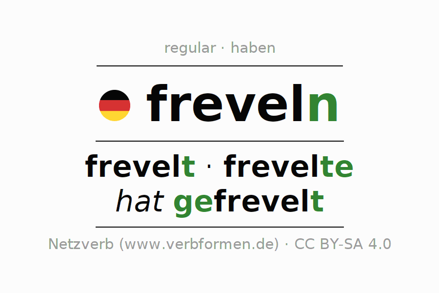 Conjugation of German verb freveln