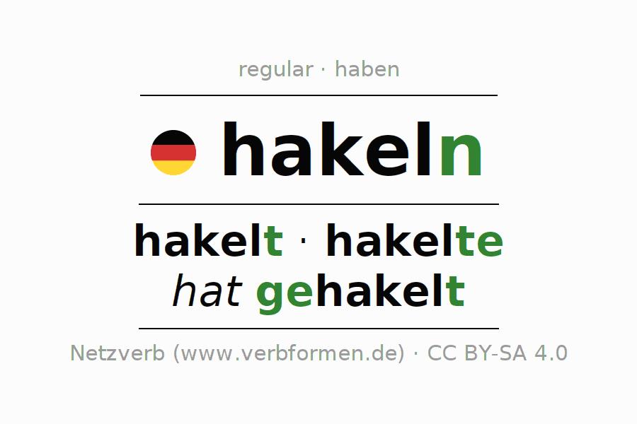 Conjugation of German verb hakeln