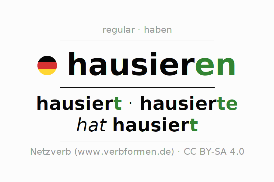 Conjugation of German verb hausieren