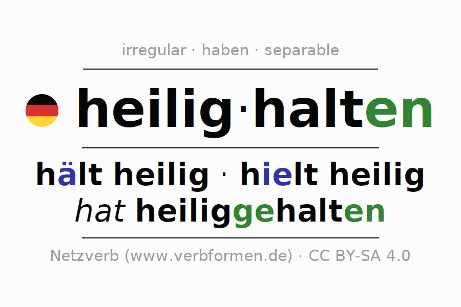 Conjugation of German verb heilighalten
