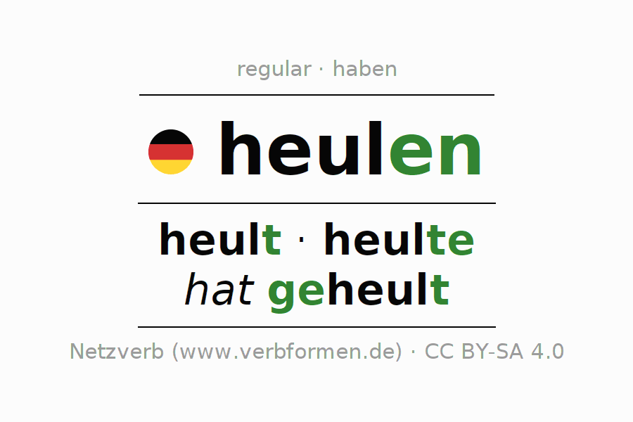 Conjugation of German verb heulen