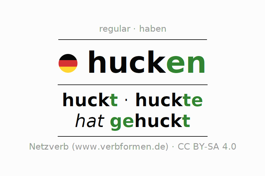 Conjugation of German verb hucken