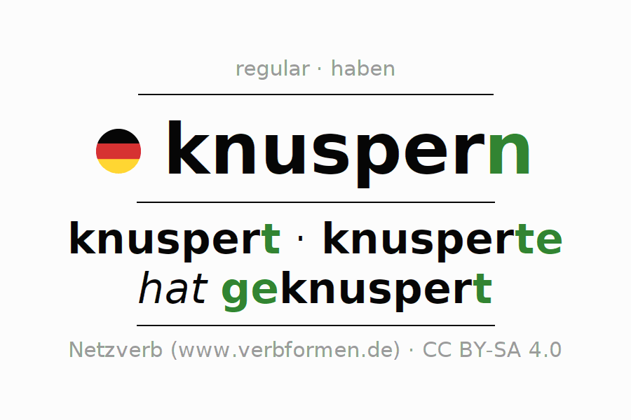 Conjugation of German verb knuspern
