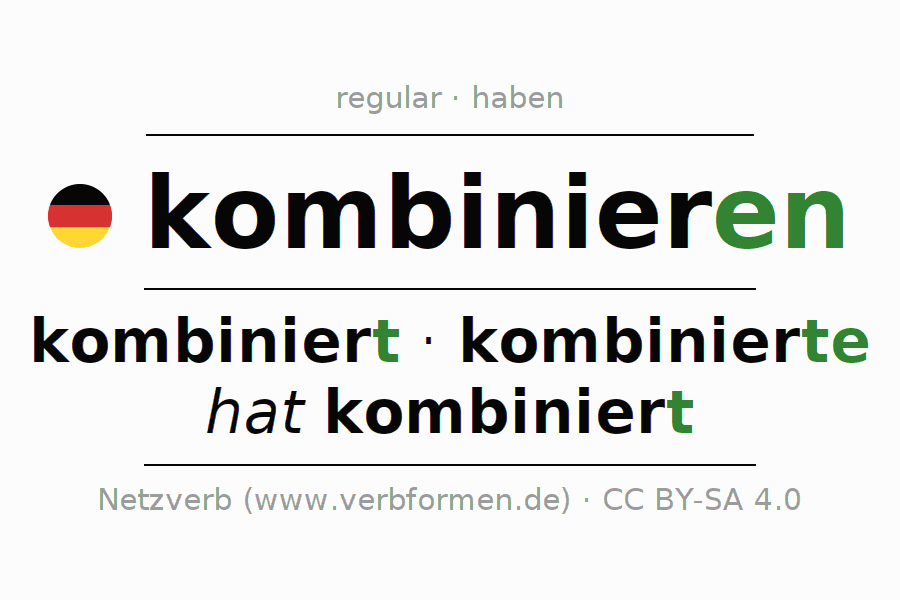Conjugation of German verb kombinieren