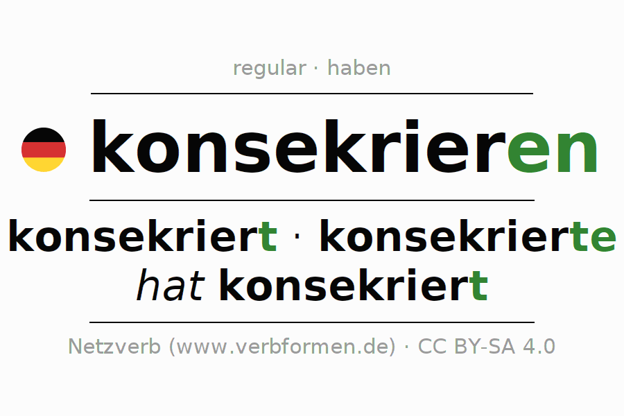 Conjugation of German verb konsekrieren