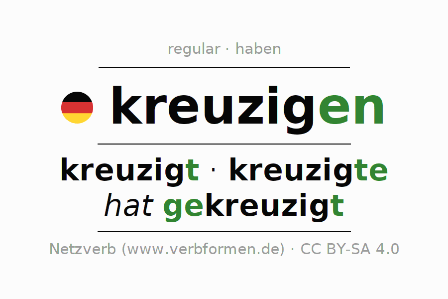 Conjugation of German verb kreuzigen