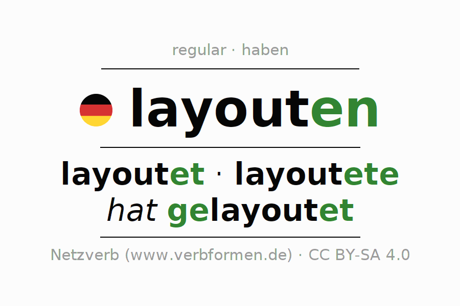 Conjugation of German verb layouten