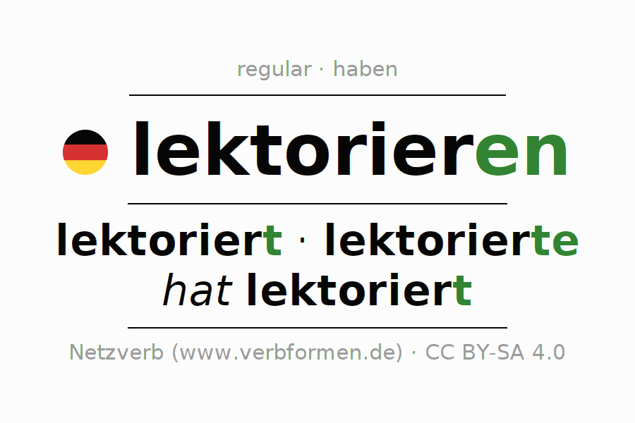 Conjugation of verb lektorieren