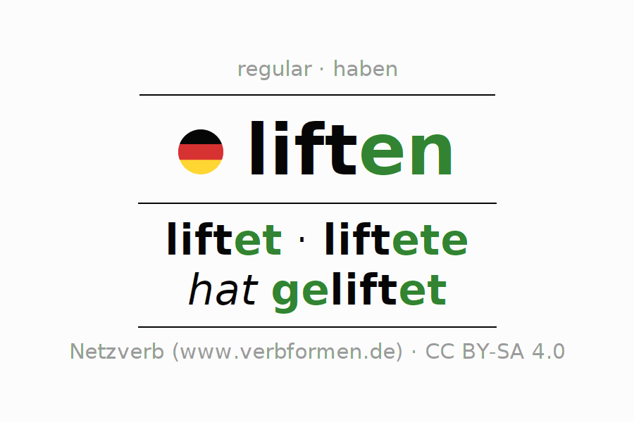 Conjugation of German verb liften