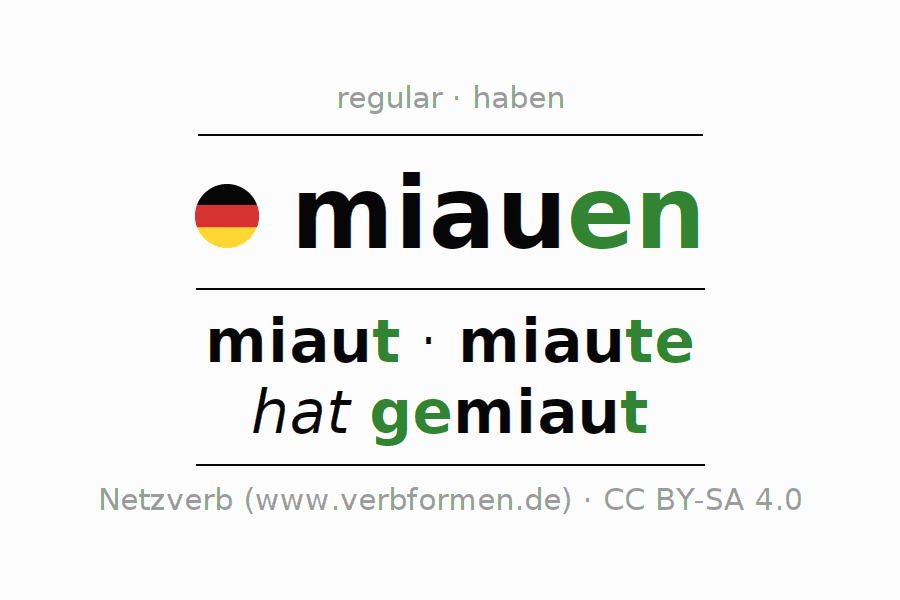 Conjugation of German verb miauen