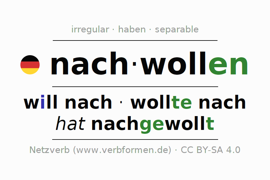 Conjugation of German verb nachwollen
