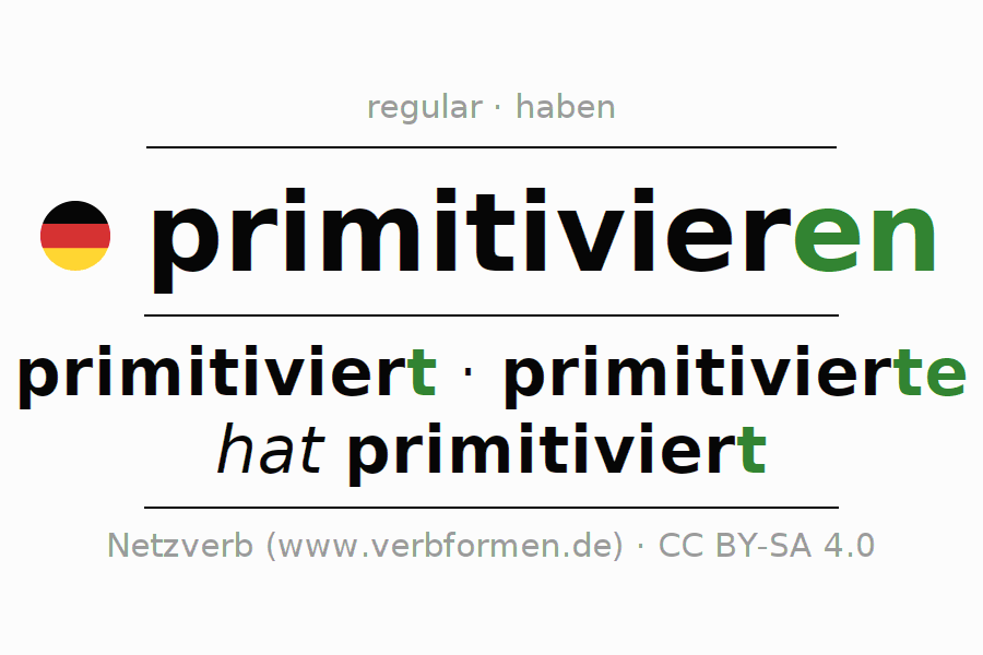 Conjugation of German verb primitivieren