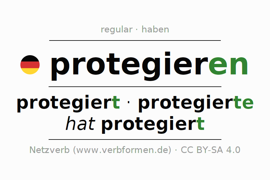 Conjugation of German verb protegieren