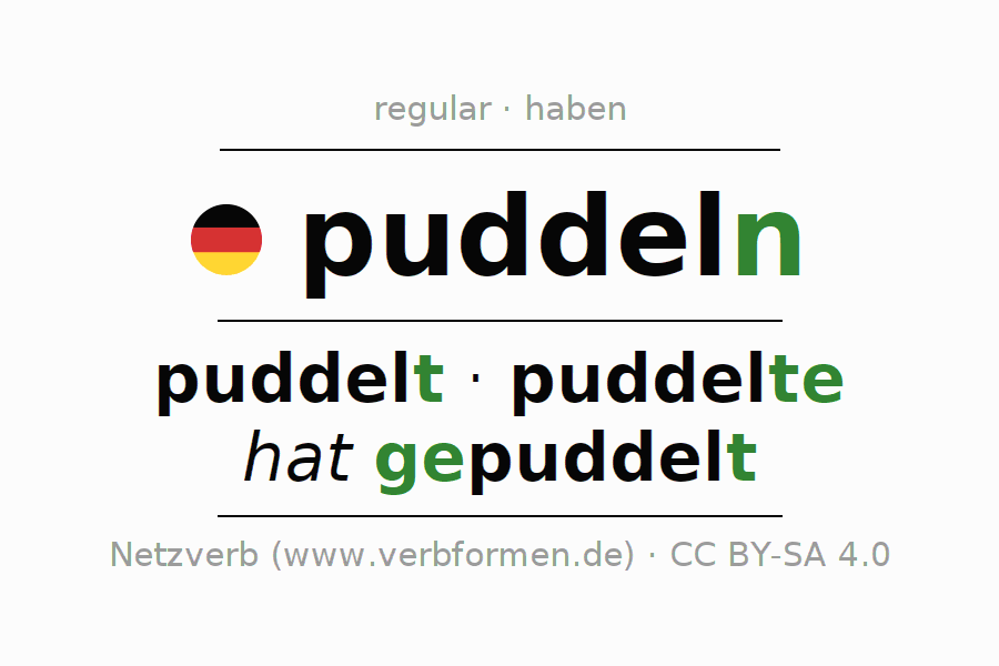 Conjugation of verb puddeln