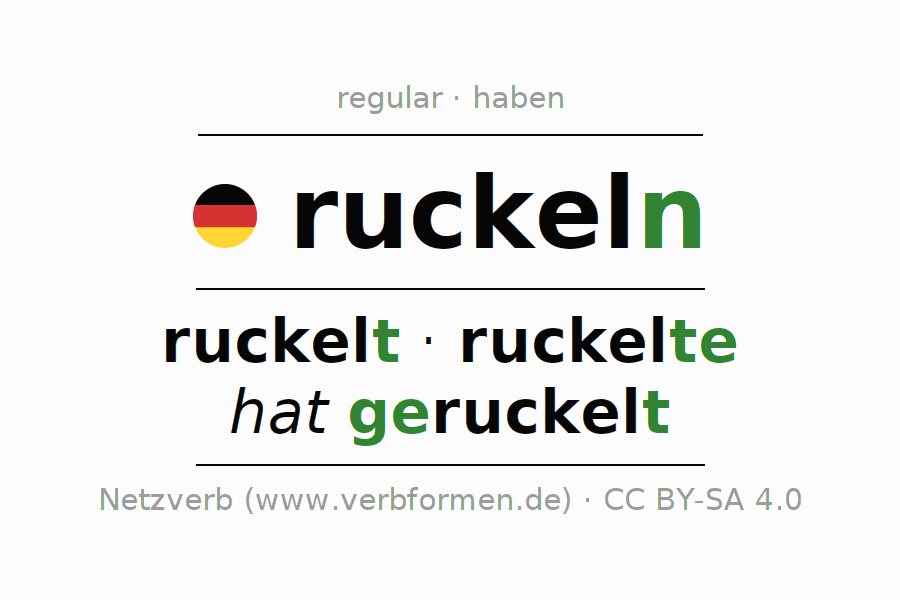 Conjugation of verb ruckeln