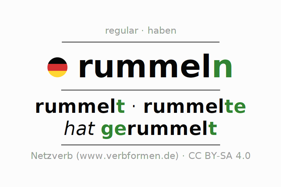 Conjugation of German verb rummeln