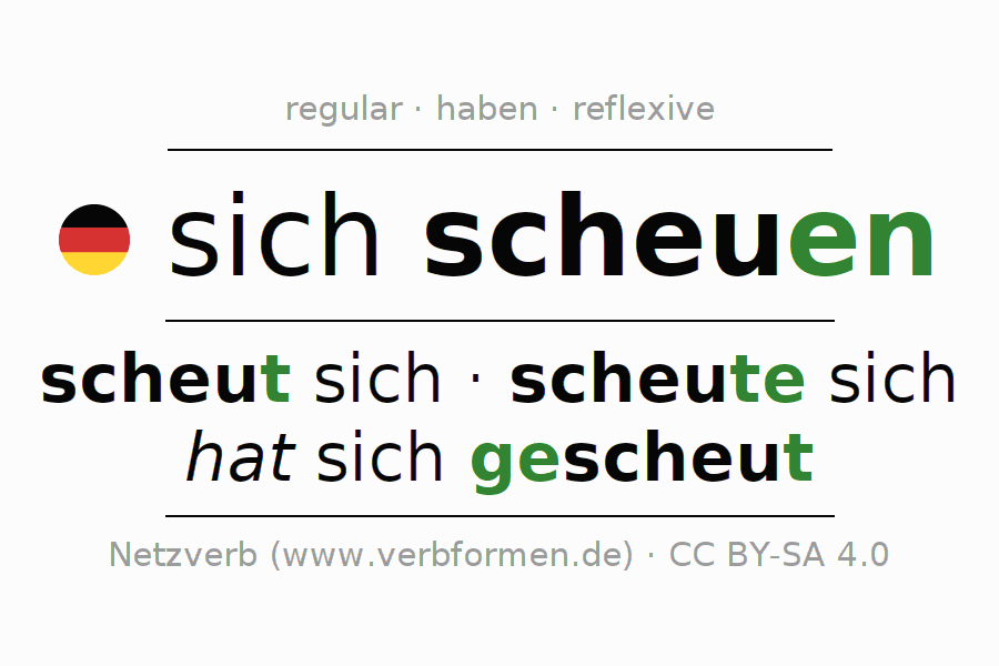 Conjugation of German verb sich scheuen