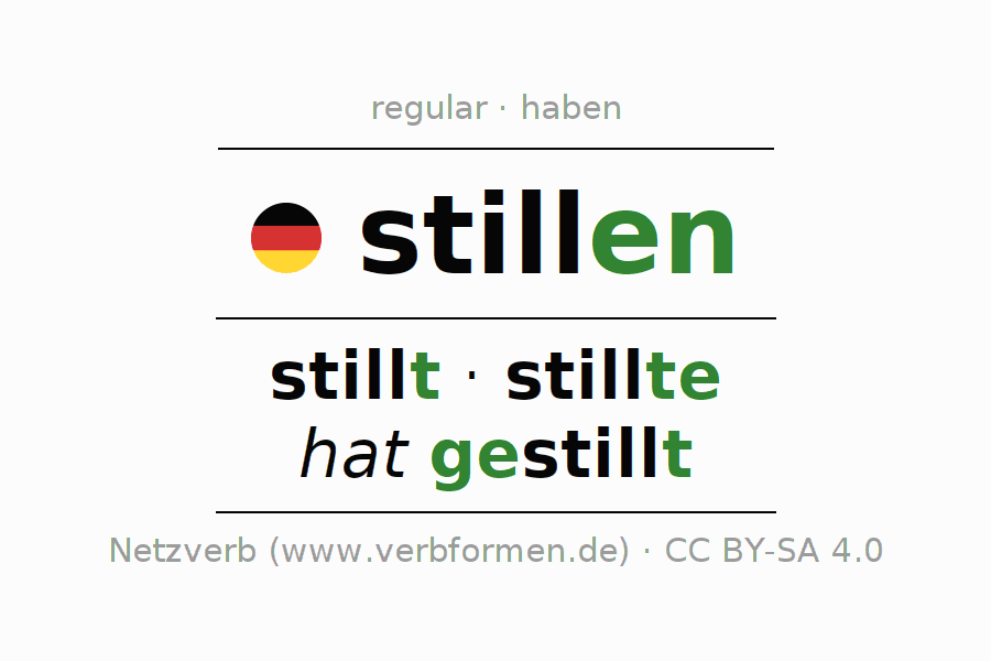 Conjugation of verb stillen