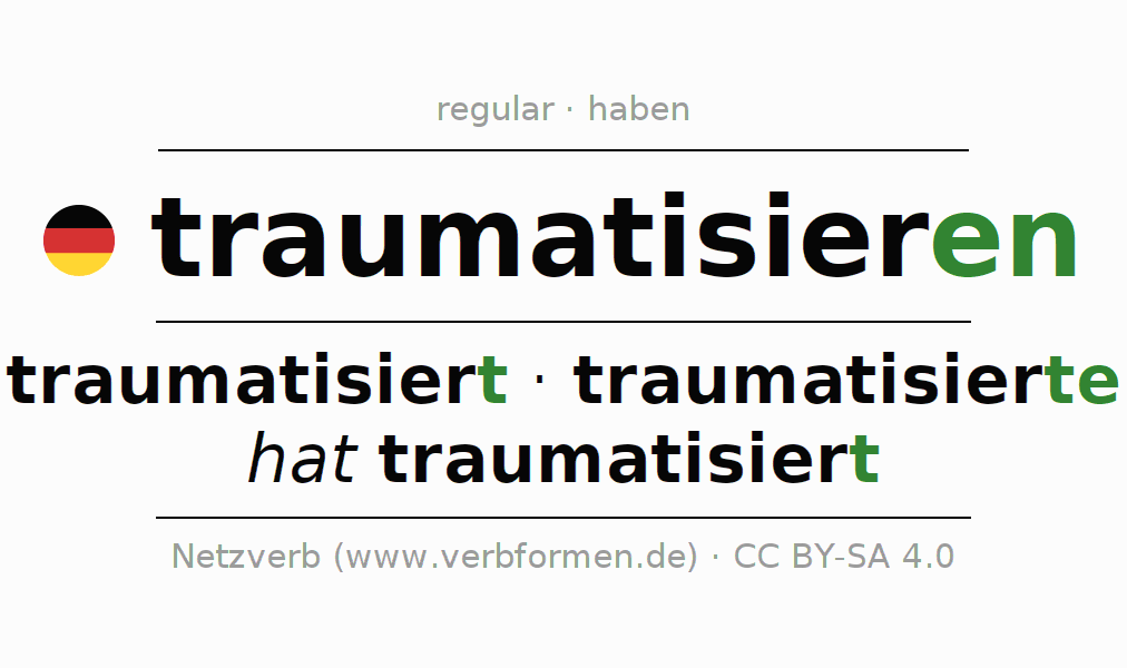 Conjugation of German verb traumatisieren
