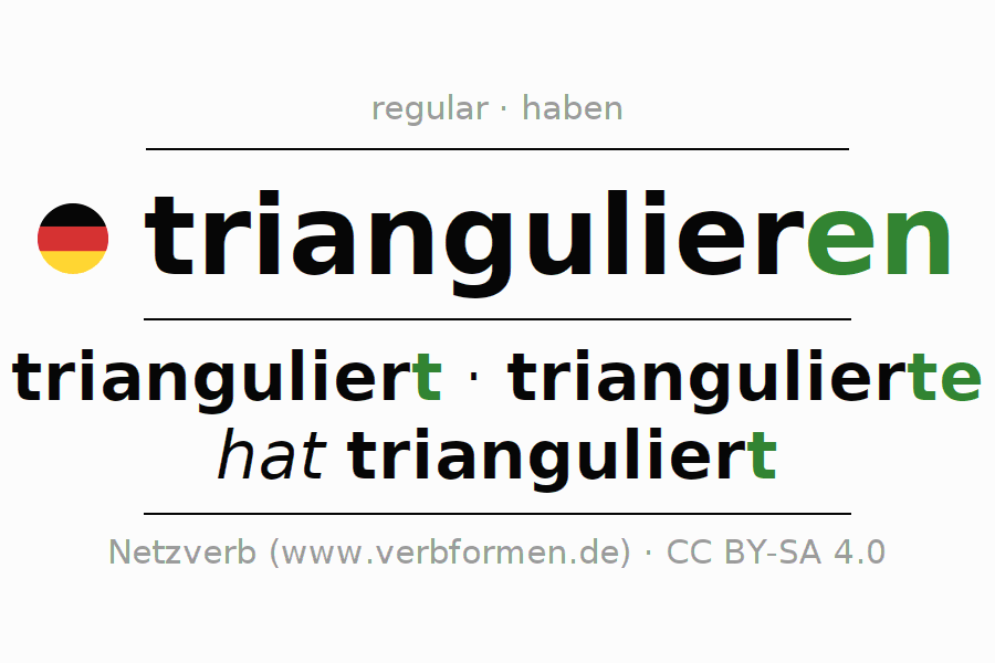 Conjugation of German verb triangulieren