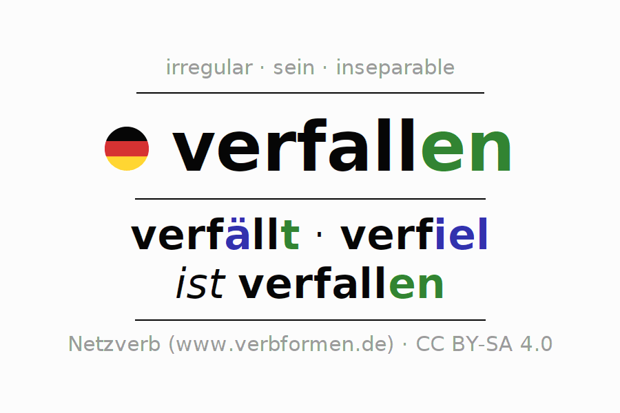 Conjugation of German verb verfallen